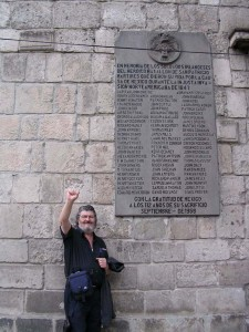 David Harding at the memorial to the San Patricios. Mexico City